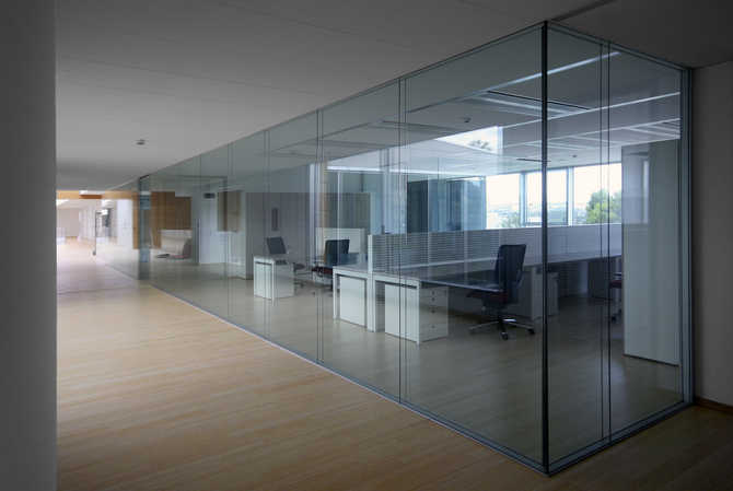 rainbow spa new offices glass partition walls and