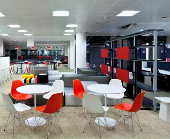 Arper knoll herman miller for google new offices in london for Office design google