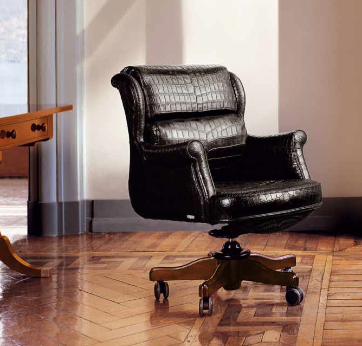 Fine Office Armchair In Real Alligator Skin Andrewgaddart Wooden Chair Designs For Living Room Andrewgaddartcom