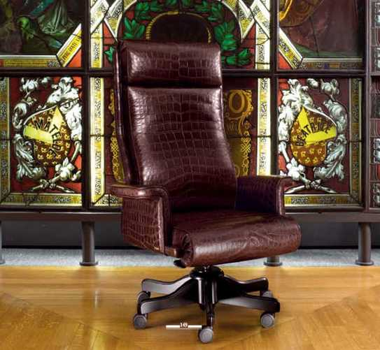Phenomenal Office Armchair In Real Alligator Skin Andrewgaddart Wooden Chair Designs For Living Room Andrewgaddartcom