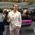 Karim Rashid at Newform booth