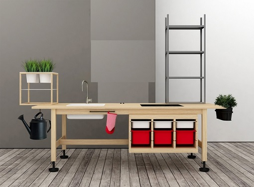Customizing ikea furniture to create new design desks for Ufficio design ikea