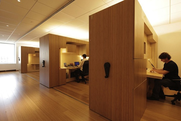 wooden mini office