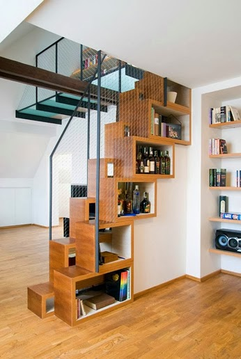 stairs with bar