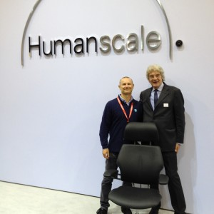 at Humanscale stand
