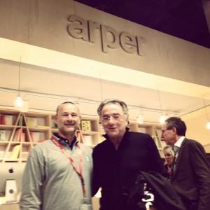 with designer Alberto Lievore